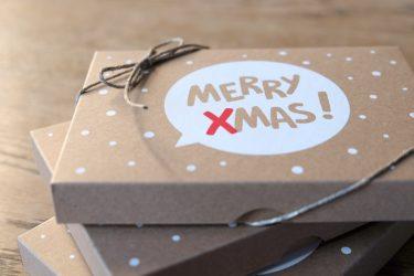 Die Box mit der die Weihnachtskarten der MedienMonster versendet werden.